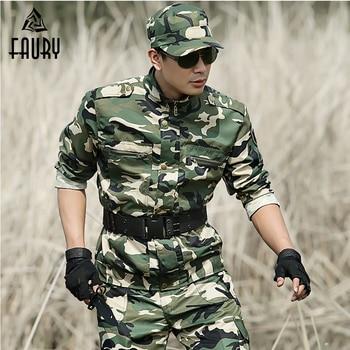 Men Military Uniform Tactical Camouflage Suits Army Sets Uniforme Militar CS Training Working Clothes Combat Jacket +Cargo Pant