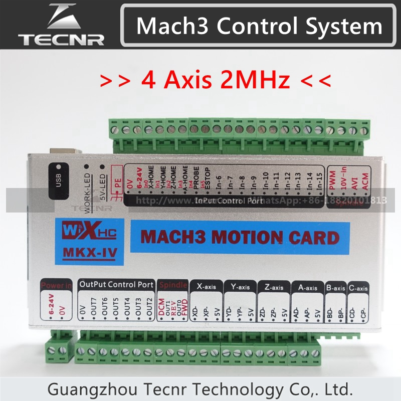 XHC MK4 Mach3 breakout board 4 axis USB motion control card 2MHz support windows 7 10
