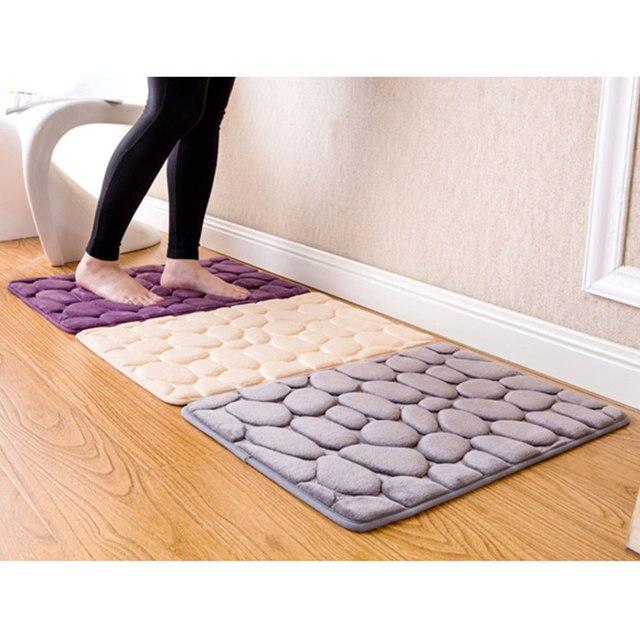 40x60 cm Non-Slip 3D Pavimento In Pietra Zerbino Tappeto Pavimento della Doccia