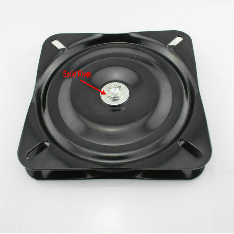 HQ 6H 6Inch(150MM) Black Lacquer Baked and Solid Steel Ball Bearing Lazy Susan,Swivel Plate, Swivel Turntable Lazy Susan hq wl1 70cm 28inch dia solid oak wood turntable bearing lazy susan dining table swivel plate turntable