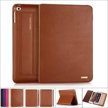 цена на Ultrathin Cowhide Genuine Leather Case for Apple iPad 4 3 2 Slim Real Leather Business Stand Smart Cover for iPad2 iPad3 iPad4