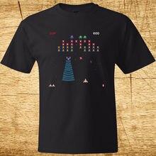 футболка estevan oriol america s game charcoal 3xl GALAGA Arcade Game Retro Gamer Classic Mens Black T-Shirt Size S-3XL 100% Cotton O Neck T Shirts Male Low Price Steampunk