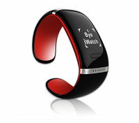Bluetooth 3.0 L12S Bracelet Watch with Call Display / Answer / Dial / SMS Sync / Anti-lost / Music Player etc OLED Smart Watch