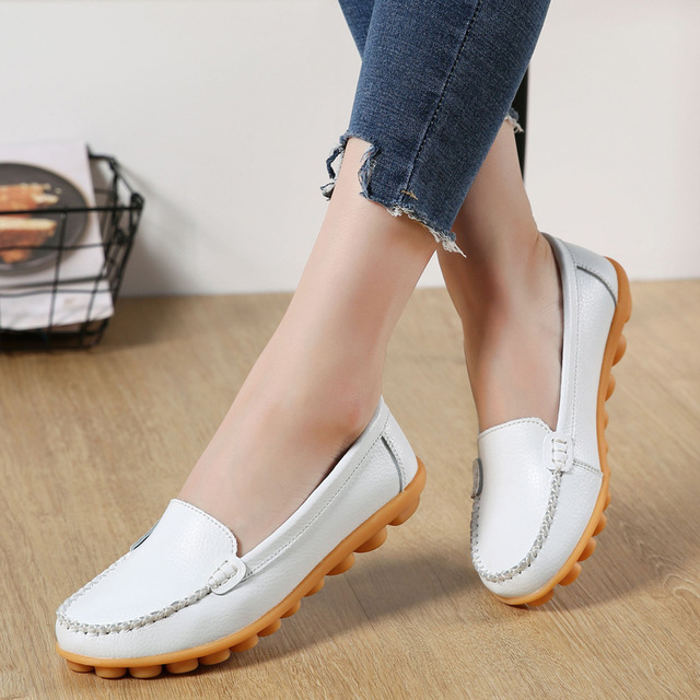 1352526e3a70 2018 kobieta buty skórzane damskie buty mieszkania kolory obuwie mokasyny  Slip On mieszkania buty damskie mokasyny