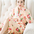 2017 New Designer Kimono Flannel Bathrobe Women Casual Sexy Winter Warm Long Bridesmaid Robes Floral Bath Robe Dressing Gown