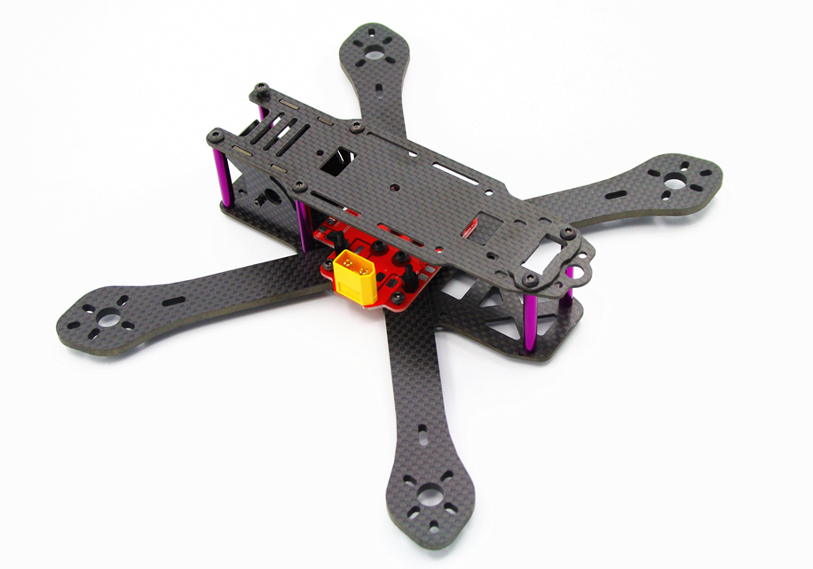 190 <font><b>220</b></font> 250 Martian X4R 4-Axis 4mm Arms Carbon Fiber Quadcopter Frame Kit with XT60 & <font><b>5V</b></font> <font><b>3A</b></font> Module & Power Distribution Board image