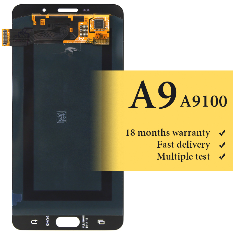 100% test good OEM quality For Samsung A9 2016 lcd screen digitizer for mobile phone A9100 replacement display 6 inch lcd screen100% test good OEM quality For Samsung A9 2016 lcd screen digitizer for mobile phone A9100 replacement display 6 inch lcd screen