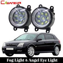 Cawanerl For 2003-2015 Opel Signum Hatchback Car Styling LED Fog Light Lamp Angel Eye Daytime Running Light DRL 12V 2 Pieces(China)