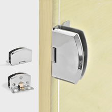 Express Shipping 50PCS Glass Cabinet Hinges Wine / Display Showcase Door Clamps Hinge No Drilling