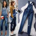 2016 Pretty Little Liars jumpsuits fashion denim hole jeans fashion for women clothes girls waxed pants casual pants trousers