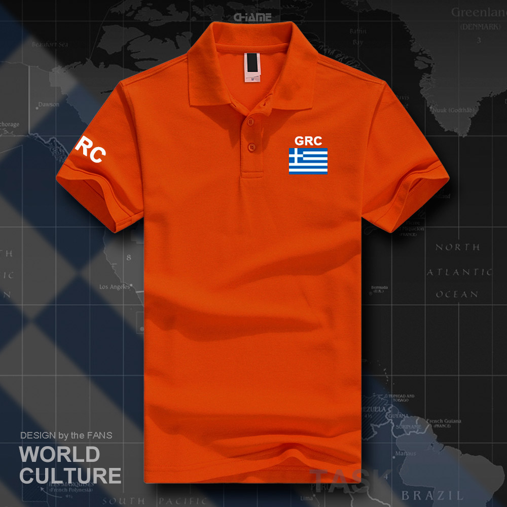Greece Polo Shirts Men Short Sleeve White Brands Printed For Country 2017 Cotton Nation Team Flag New Fashion Casua The Greek