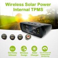 SZDALOS Солнечный TPMS шины контроля давления с 4 мини внешний датчик DIY просты в установке бар Psi давления вариант для автомобиля