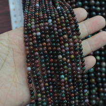 natural bloodstone/ heliotrope beads natural stone beads DIY loose beads for jewelry making strand 15″ free shipping wholesale !