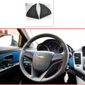 Car Styling Interior Steering Wheel Carbon Fiber Sticker For Chevrolet Chevy Cruze Aveo Sedan Hatchback Modified 2009-2013