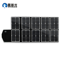Xinpuguang 150W 16V Solar Panel Charger black 10 Folds Solar Panel Battery Charging USB DC output for mobine Phone Pad computer
