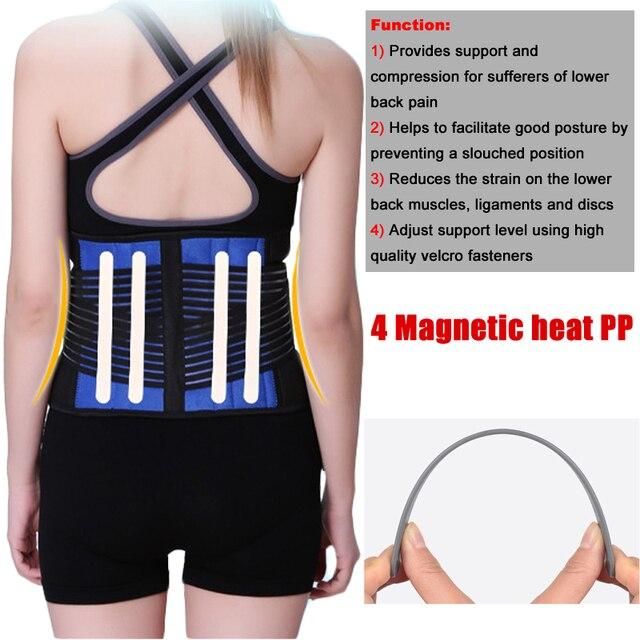 Neoprene Sports Waist Posture Corrector Belt Lumbar Support Back Brace Household Pressurized Disc Herniation Tummy Trimmer Belt 3
