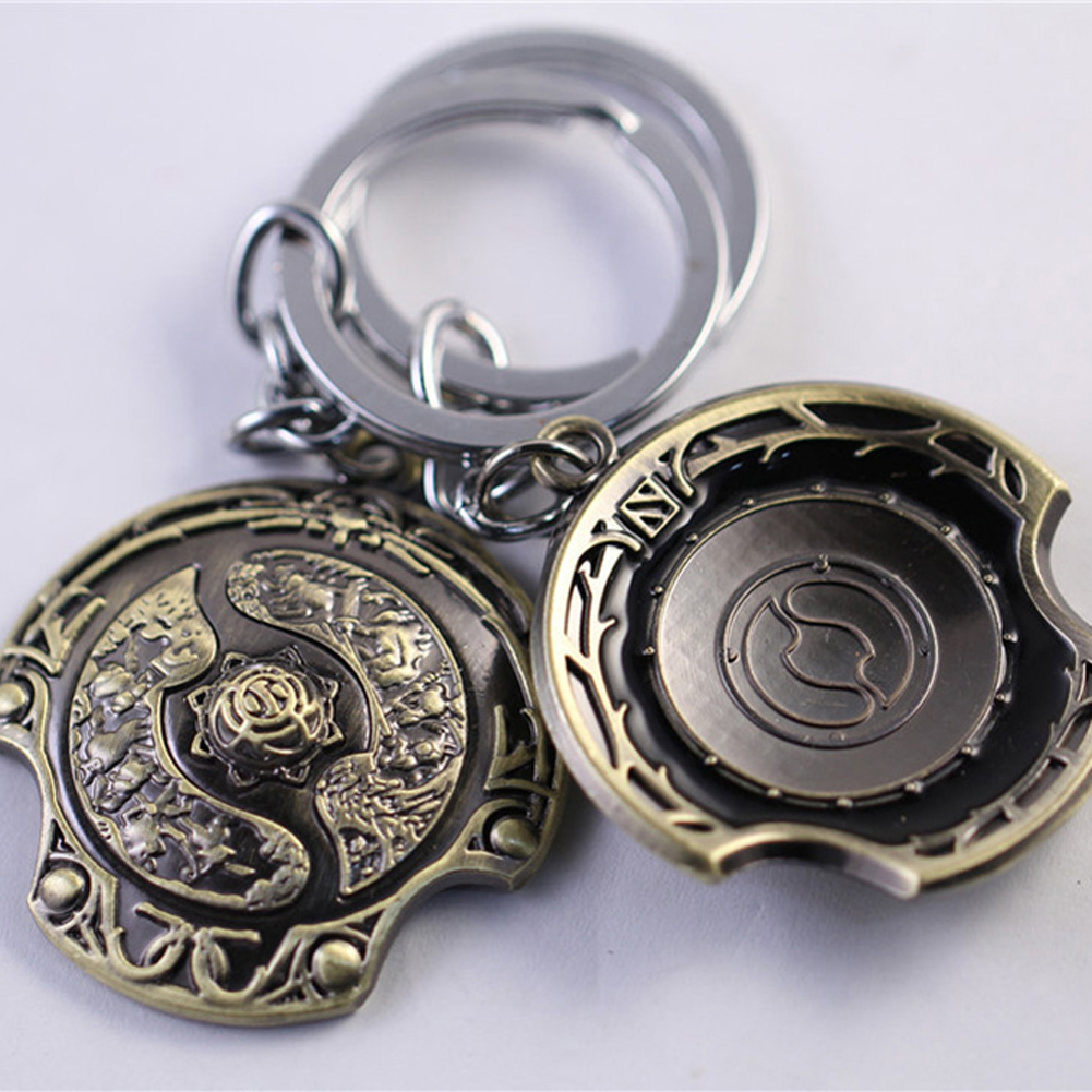 2016 Hot Sale Game Dota2  Hook Keychains Keyrings immortal champion shield Dota 2 Key Chains