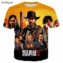 цена на Game Red Dead: Redemption 3D Print T shirt Men/women Punk Streetwear T-shirt Boy Hipster Modis Tshirt New 6XL camiseta masculina