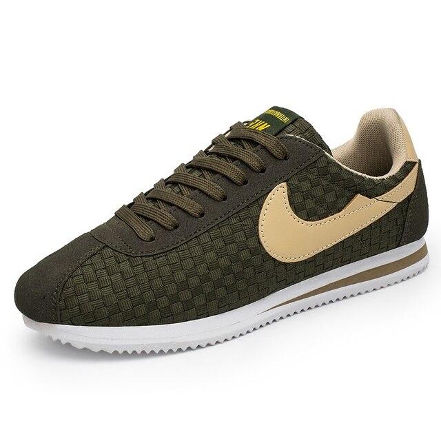 Men Sneaker Sport Original Superstar Smithe Low Cortez Classic Leather  Walking Skateboarding Breathable Footwear Mix Color Green 94a6f8d50