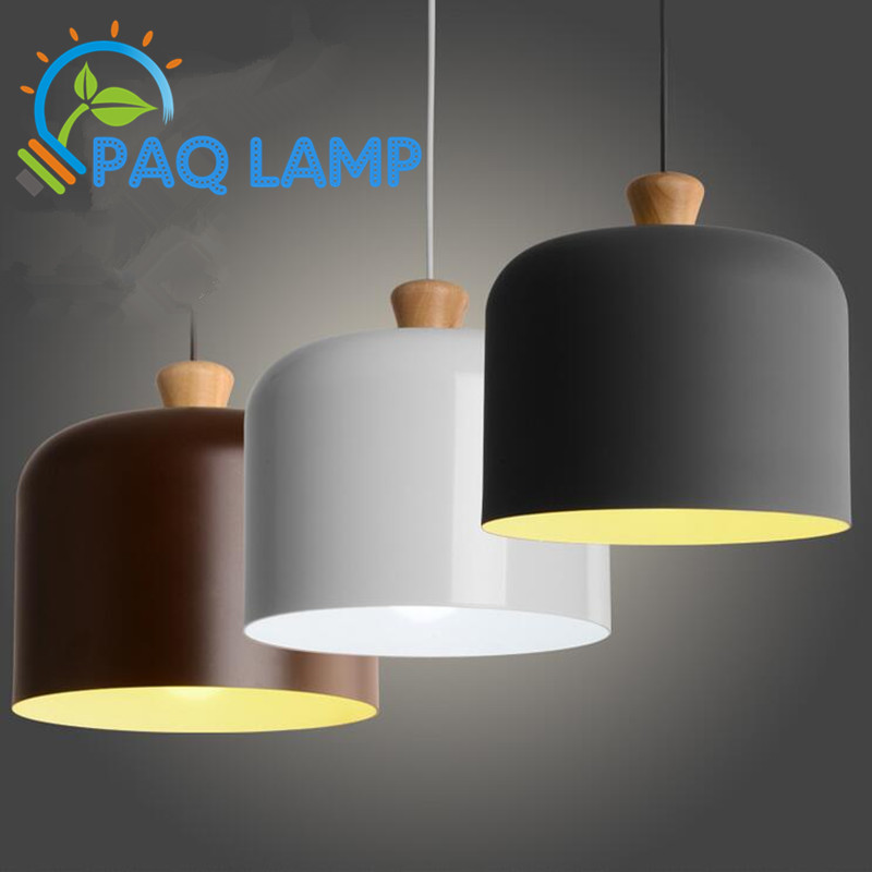 Modern lamps pendant lights Wood and aluminum lamp white/grey/brown restaurant bar coffee dining room LED hanging light fixture rectangular dining room pendant lights european style led crystal pendant lights modern restaurant lamp bar cafe creative lamps