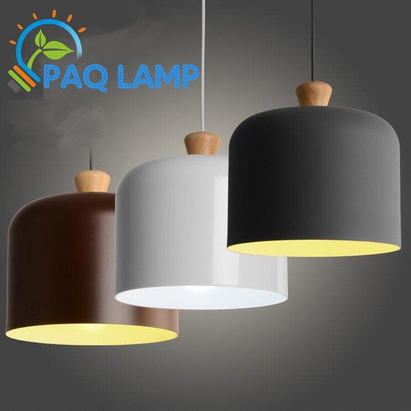 hanglampen hout en aluminium lamp wit/grijs/bruine koffie eetkamer ...