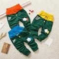 2017 Nuevos Bebés de La Manera Del Otoño Del Resorte Pantalones Muchachos Lindos Pantalones de Algodón Recién Nacido Pantalones Harén 0-2Year 20D