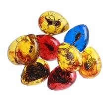 1 шт. модные натуральные насекомые, янтарный цвет, оригинальные скорпионы, Бабочка, пчела, краб, украшения, подвеска «сделай сам», подарок