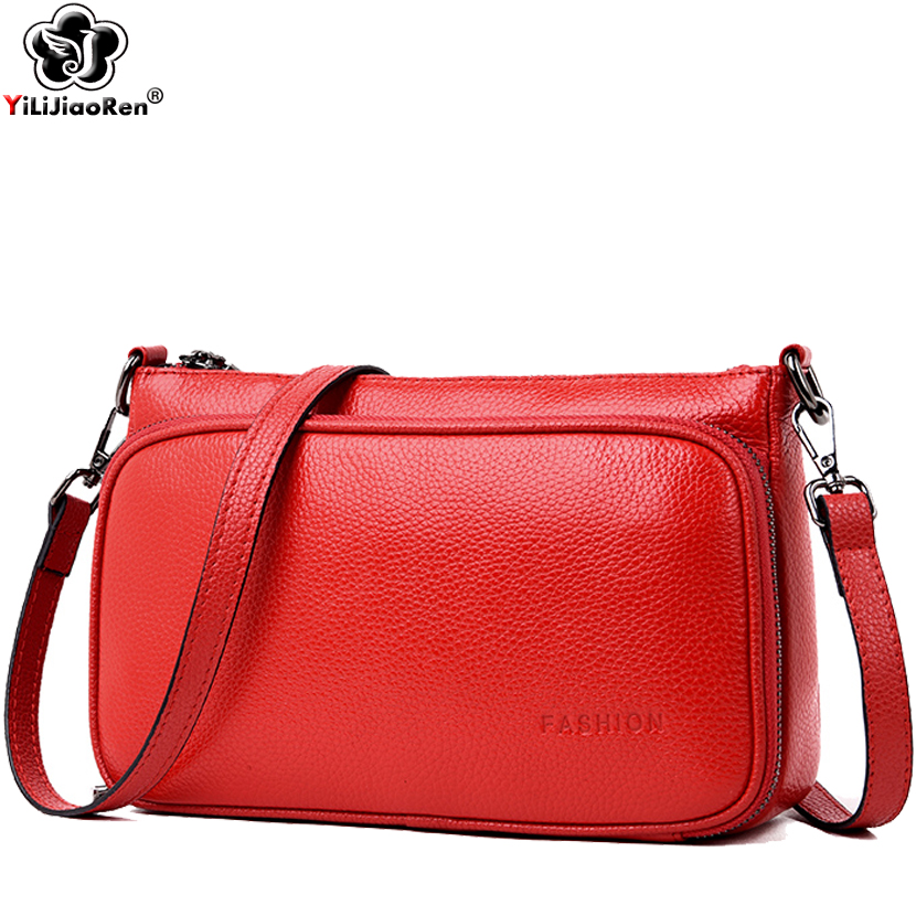 Famous Brand Genuine Leather Women Shoulder Bag Designer Simple Messenger Bags Casual Crossbody Bags for Women