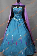 Free shipping New Arrival Custom Made High Quality Princess Elsa Dress cosplay costumes 002