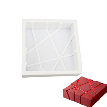 Silicone 3D Geometric Square Mold Baking Dish Cake Decorating Tools For Kitchen Chocolate Mousse Chiffon Bakeware Moulds
