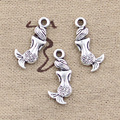 99Cents 12pcs Charms lovely mermaid fish 21*10mm Antique Making pendant fit,Vintage Tibetan Silver,DIY bracelet necklace