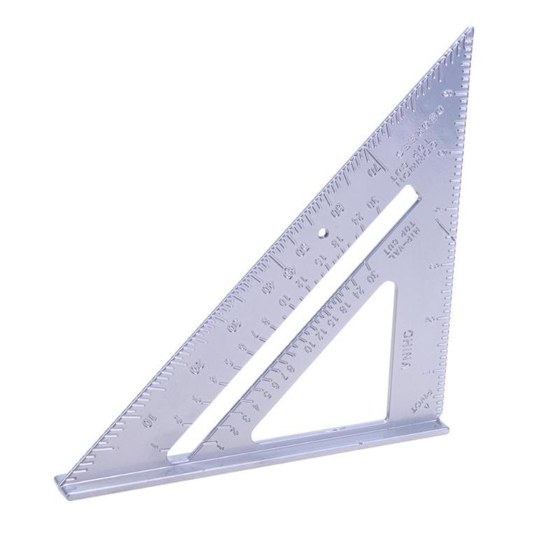 Aluminum Alloy Speed Square Protractor Miter Framing Tri-square Line Scriber Saw Guide Measurement Meter Square Carpenter Ruler