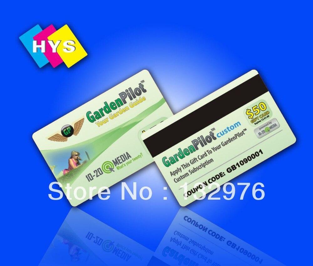 Impresión de tarjetas de rayas magnéticas Hi-Co o Lo-Co y suministro de código en relieve