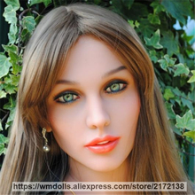 WMDOLL Real Oral Sex Doll Head For Silicone Sex Dolls Heads with Love Doll Heads fit 145-172cm TPE Sex Doll