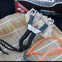 Hakiki Sapan Güçlü Metal Mancınık Açık Avcılık Oyunları için Paslanmaz Çelik Sapanların Lastik Bant Ücretsiz kargo