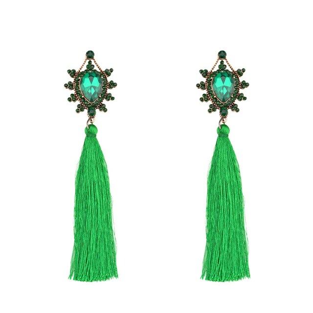 e2acc9c9e09f Ojshang Marca Bohemio 5 Colores Grandes Pendientes para Las Mujeres de La  Boda Hermoso Regalo de