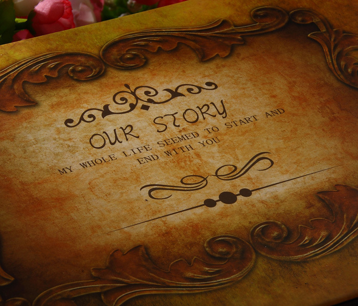 our story diy vintage christmas gift handmade photo album wedding stickers craft paper albums for photosin photo albums from home u0026 garden on