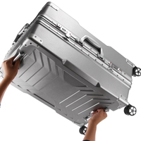 20inch High Quality Aluminium Frame Rolling Luggage Trolley Travel Case Universal Wheel Business Suitcase Trunk Trolly