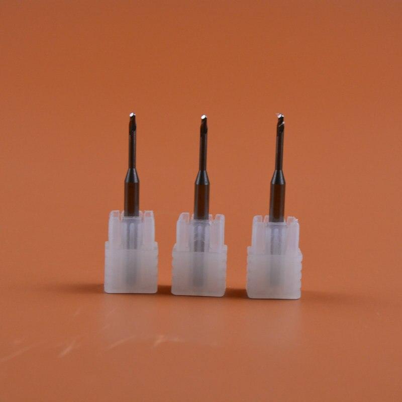 3pcs 0.6/1.0/2.0mm Dental Zirconia Milling Burs for Roland DWX 50 CAD CAM milling system3pcs 0.6/1.0/2.0mm Dental Zirconia Milling Burs for Roland DWX 50 CAD CAM milling system