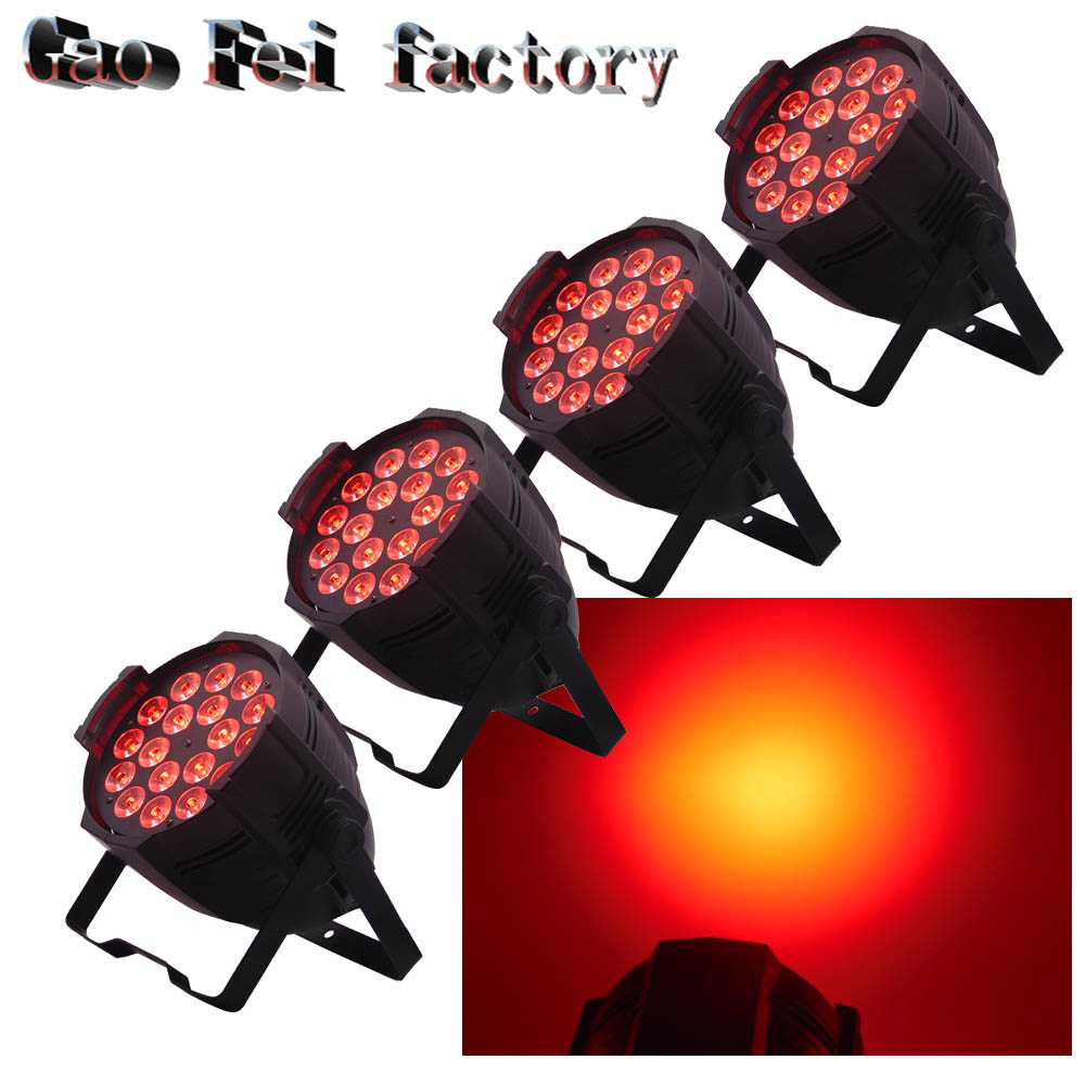 4Pcs 18x12W LED Par Light RGBW Lamp Stage Light Luces Disco Discoteca Beam Dmx4Pcs 18x12W LED Par Light RGBW Lamp Stage Light Luces Disco Discoteca Beam Dmx