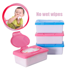 Reusable Dry Wet Tissue Paper Case Baby Wipes Storage Box Holder Container(China)