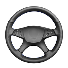Hand stitched Black PU Artificial Leather Steering Wheel Cover for Mercedes Benz W204 C Class 2007 2010 C280 C230