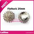 20Pcs Crystal Diamante Clear Rhinestone Buttons Flatback Embellishments