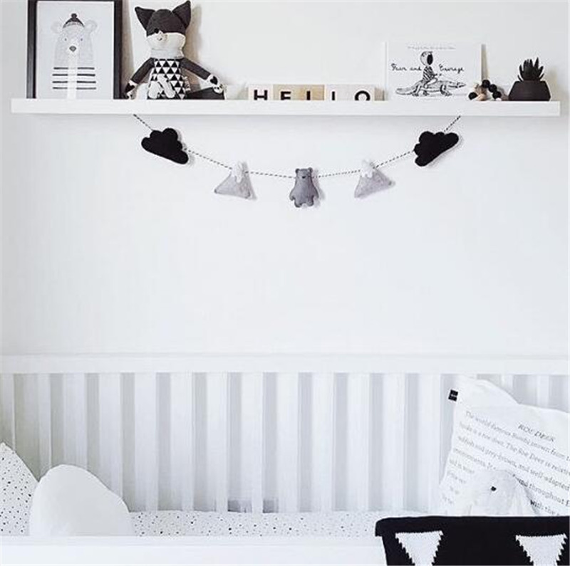 Us 7 14 35 Off 5pc Set Simple Cloud Garland Ornament Kid S Bedroom Hanging Wall Decoration Nursery Decor Christmas Birthday Best Gifts In Wind