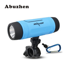 Abuzhen Bluetooth Speaker Portable Outdoor/Indoor LED Flashlight Powerful Bass with 4000mAh Emergency Powerbank and LED Light