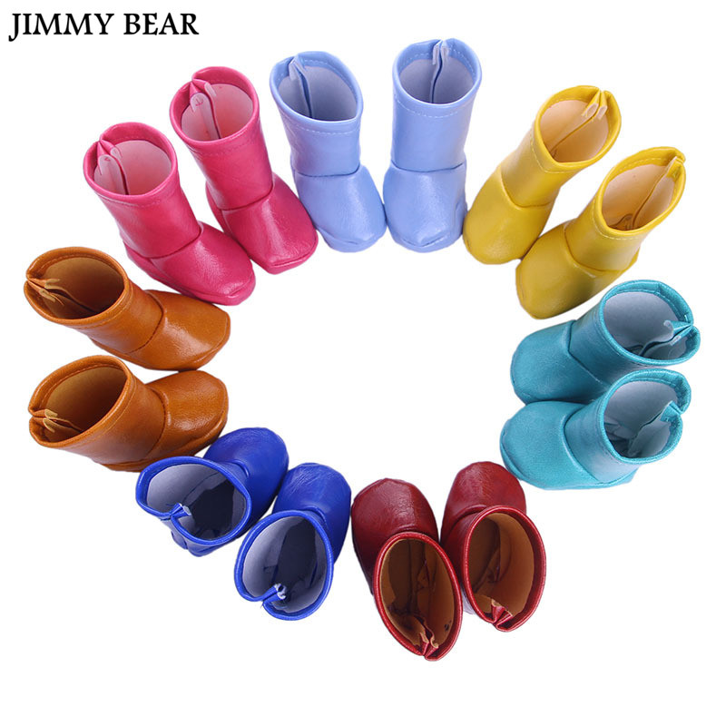 JIMMY BEAR Fashion Dolls Half Boots Flat-heel Shoes for 18inch 1/4 American Girl Dolls