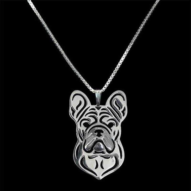 2019 ใหม่แฟชั่นเงินชุบสัตว์เลี้ยงจี้สร้อยคอ Lovers 'ภาษาฝรั่งเศส Bulldog สร้อยคอเครื่องประดับ Drop Shipping