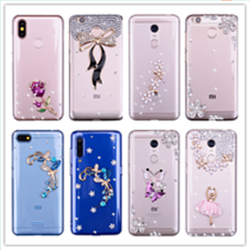 Bling Diamond Rhinestone phone case For xiaomi mi 9 a1 a2 mix 2 s 6 8 se mi6 mia1 mia2 lite light Cover shell Pocophone f1 Coque