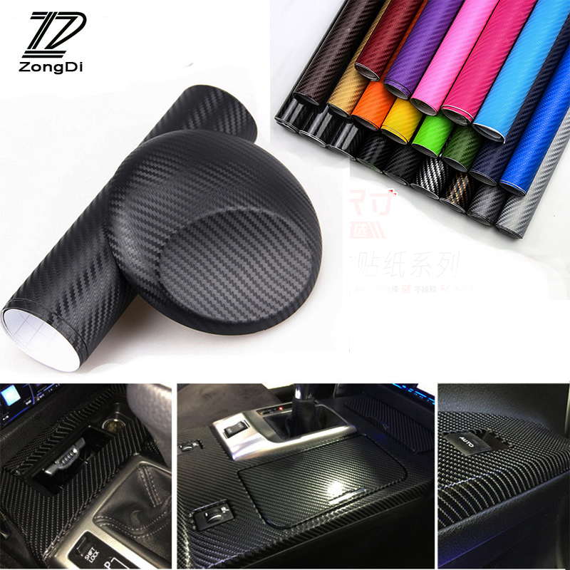 ZD 30*127 Car Accessories For Volvo S60 V70 XC90 Subaru Forester Peugeot 307 206 308 407 Car-styling Carbon Fiber Sticker Decal машина пламенный мотор volvo v70 пожарная охрана 870189