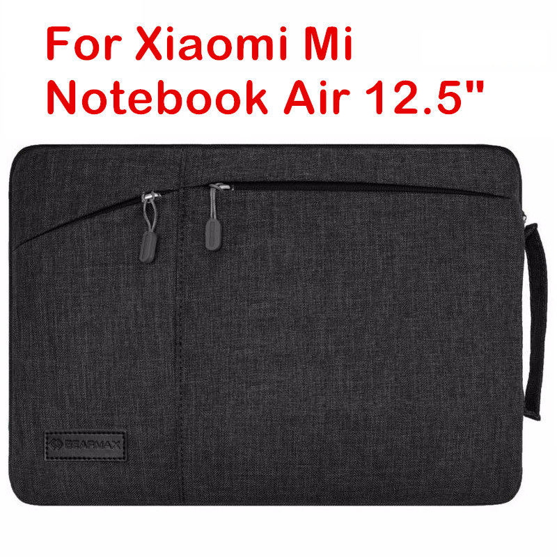 Fashion Sleeve Bag For Xiaomi Mi Notebook Air 12.5 Inch Laptop Pouch Case Creative Handbag Protective Skin Cover Stylus Gift pu leather case cover for 12 9 inch laptop bag notebook protective sleeve stylus with wireless bluetooth keyboard as gift